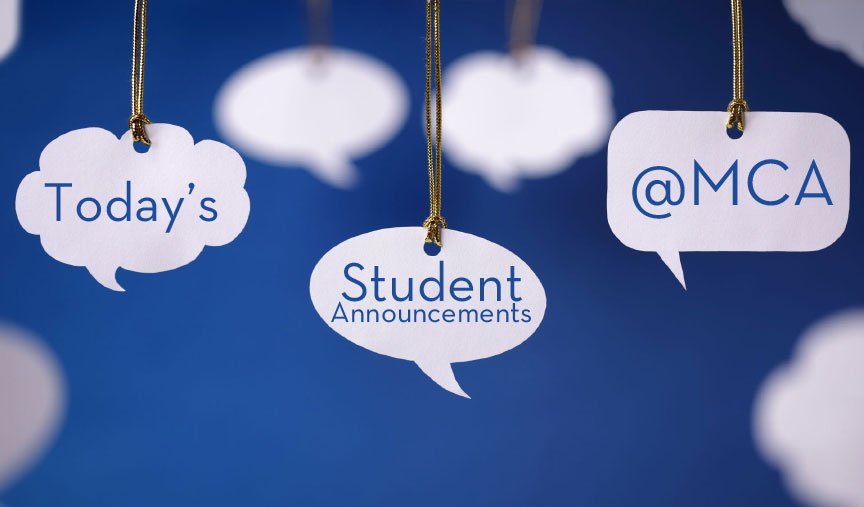 Student Announcements for Tuesday, February 14
