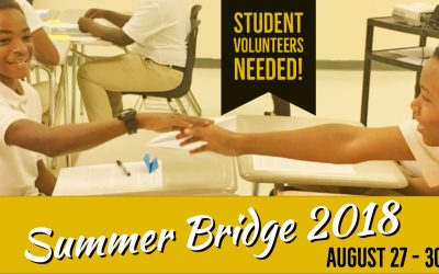 Sign Up: Student Leaders Needed for Summer Bridge 2018