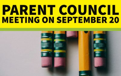 Parent Council Meeting on Thursday, September 20