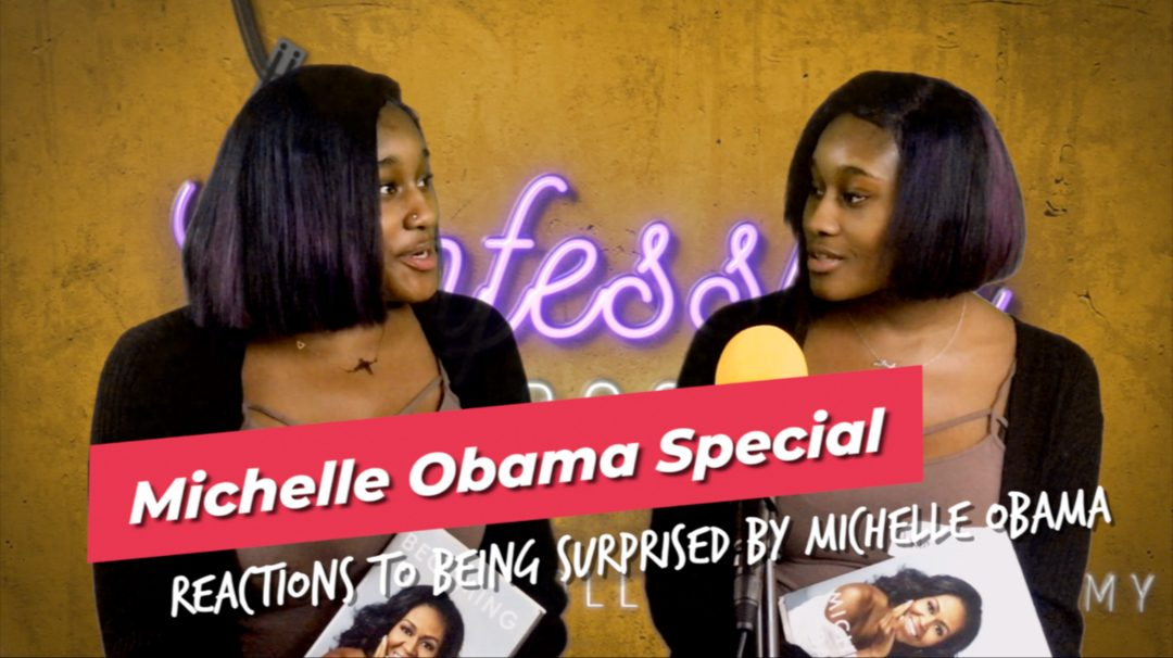 Reactions to being surprised by Michelle Obama