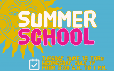 Summer School: June 18 through July 17