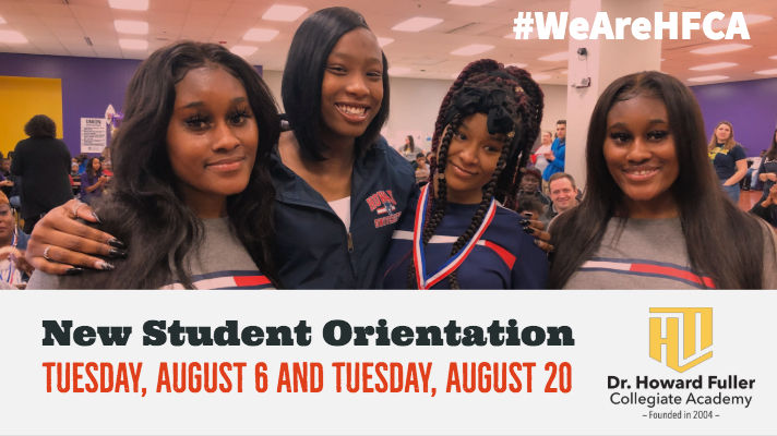 New Student Orientation on August 20