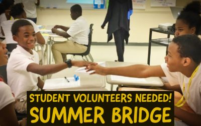Student Leaders Needed for Summer Bridge 2019