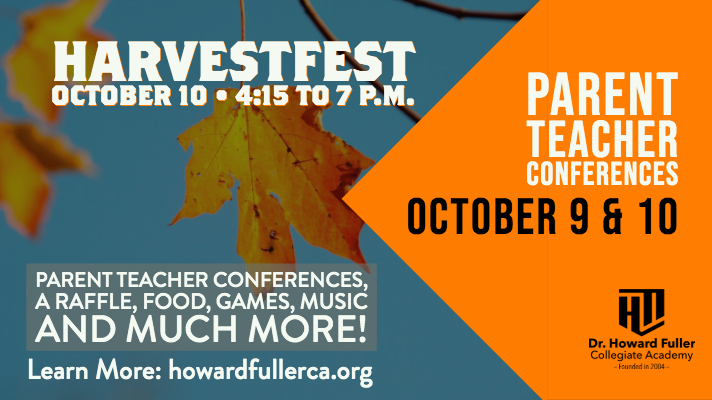 HarvestFest and Parent/Teacher Conferences on Thursday, October 10