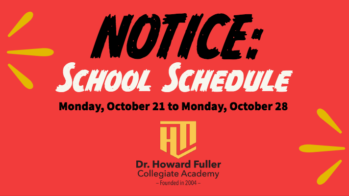 NOTICE: School Schedule
