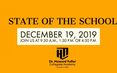 State of the School on Thursday, December 19