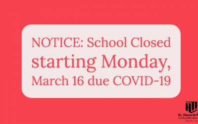 NOTICE: School Closed Due to Covid-19