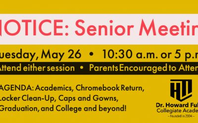 Senior Meeting on Tuesday, May 26