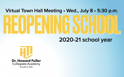 Reopening School: Town Hall Meeting on Wednesday, July 8