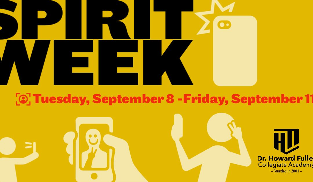 Spirit Week Begins Tuesday, September 8