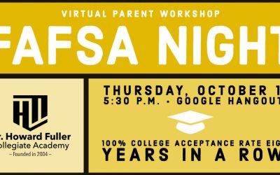 FASFA Night on October 15