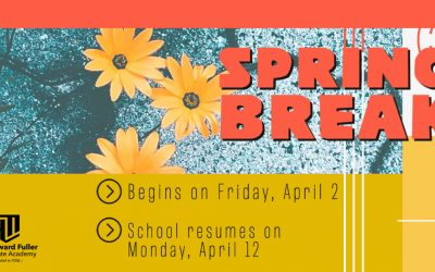 Spring Break Begins on Friday, April 2